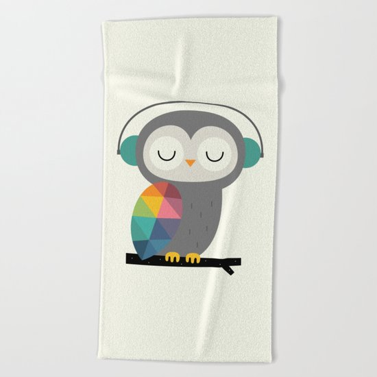 Owl Time Beach Towel