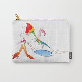 Calico sunburn, female reclining surrealist nude, NYC artist Carry-All Pouch
