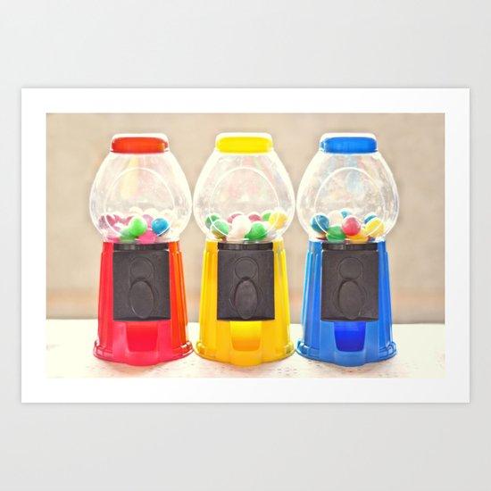 Bubble Gum in Primary  Art Print