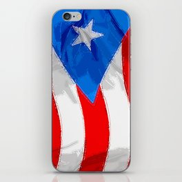 Puerto Rico Fancy Flag iPhone Skin