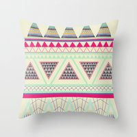 aztec Throw Pillows featuring Aztec by ALT + CO