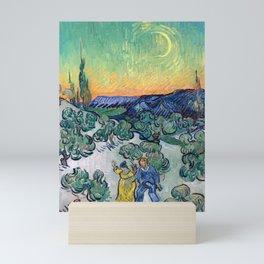 Couple Walking among Olive Trees, Vincent Van Gogh Mini Art Print