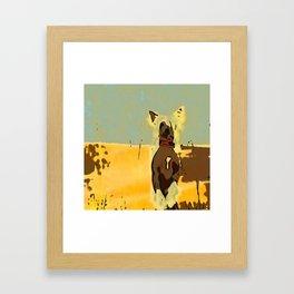 Chinese crested 4 Framed Art Print