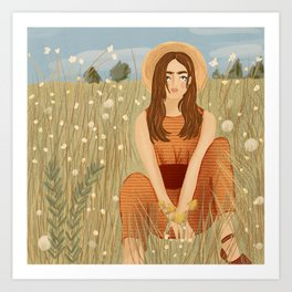 In the meadows Art Print