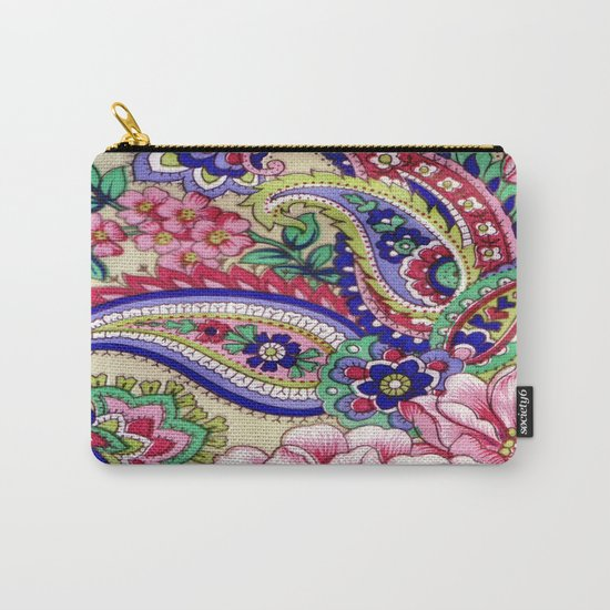 Floral Deco Carry-All Pouch
