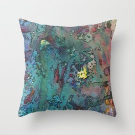 Life Map Throw Pillow