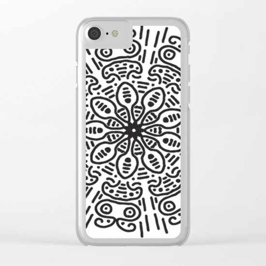 Spiral hand made Clear iPhone Case
