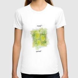 August Peridot Birthstone Series - Watercolor T-shirt