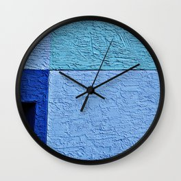 Textured Blues Wall Clock