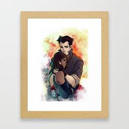 Korra-Mako Framed Art Print