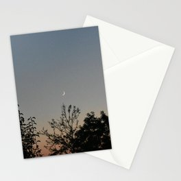 Crescent Moon at dusk Stationery Cards