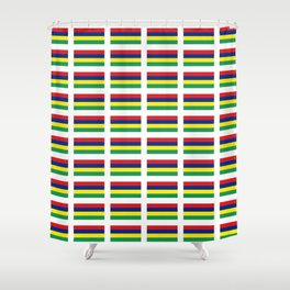 Flag of Mauritius – maurice,mauricien,port-louis,mauritian,rodrigues,creole,dodo,indian ocean Shower Curtain