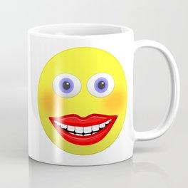 Smiley Female With Big Smiling Mouth Coffee Mug