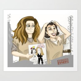 OITNB Nicky and Morello Art Print