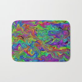 Atomic rainbow splash Bath Mat