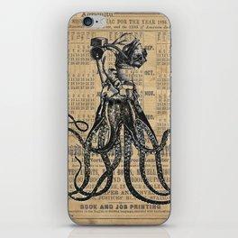 OctoDiver Kraken Octopus meets 1895 vintage Diver iPhone Skin