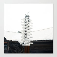 Directions to Anywhere Canvas Print
