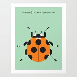 Lady Bug Green Art Print