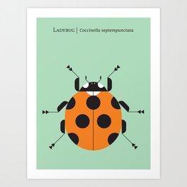 Lady Bug Green Kunstdrucke