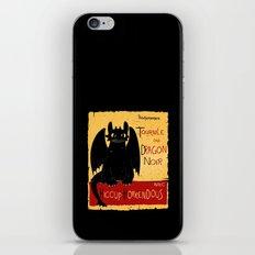 Dragon noir iPhone & iPod Skin
