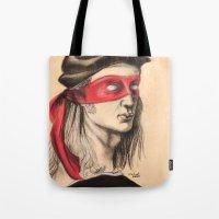 tmnt Tote Bags featuring Raph TMNT by Rachel M. Loose