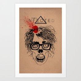 Mild Mannered Zombie Art Print