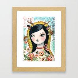 Dear Girl Saint by CJ Metzger Framed Art Print