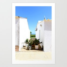 That magical space between these two houses Art Print