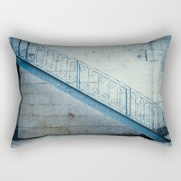 The blue stairs Rectangular Pillow
