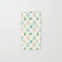Gilded Jade & Mint Turtles Hand & Bath Towel