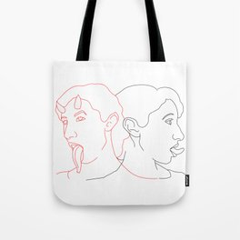 Doppelganger - the evil side of each person Tote Bag