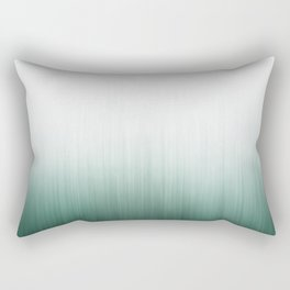 Ombre Forest Teal Fog Rectangular Pillow