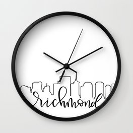 Richmond Skyline Wall Clock