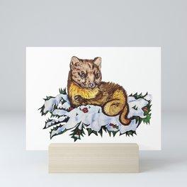 Pine Marten Mini Art Print