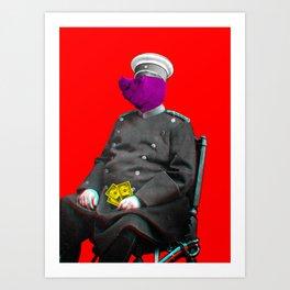 General Schweinebacke Art Print