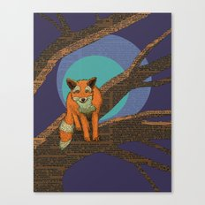 Fox at night Canvas Print
