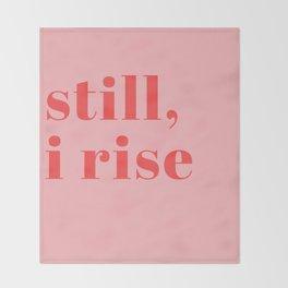 still I rise XIV Throw Blanket