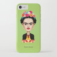 frida iPhone & iPod Cases featuring Frida by Matias G. Martinez