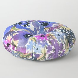 Heavenly Blues and Purples Floor Pillow