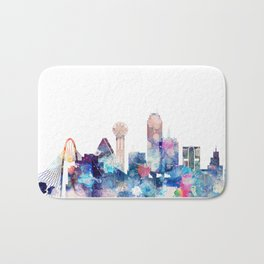 Dallas Texas Blue Skyline Bath Mat