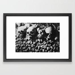 Catacombes Framed Art Print