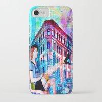 women iPhone & iPod Cases featuring Women by Joe Ganech