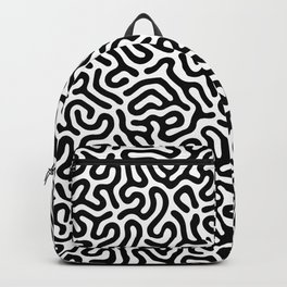 Black and White Organic MAZE Pattern Backpack