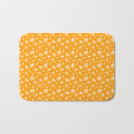 Lily And Lotus - Curry Color Flower Lake Bath Mat
