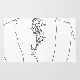 Feminine Floral Back Tat V2 Rug