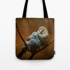 Male and Female Cordon Bleu Canaries Tote Bag