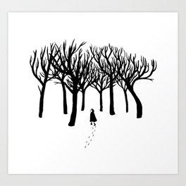A Tangle of Trees Art Print