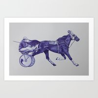 sport Art Prints featuring Sport Horses by Tosasmok