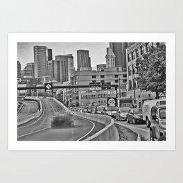 dissapearing traffic Art Print