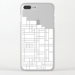 Map Black Boarder Clear iPhone Case